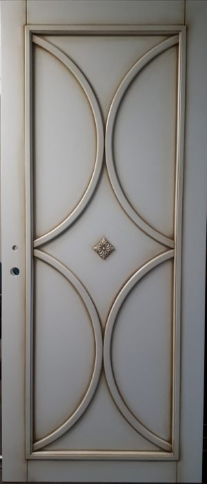 Межкомнатная дверь в профиле массив (эмаль с патиной) Актобе