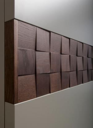 Вставка в двери с накладными квадратами шпон Актобе